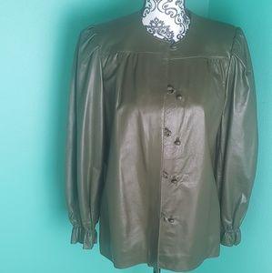 Vintage Fendi Leather Jacket